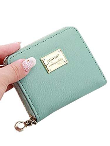 TEBAISE Geldbörse Damen Klein Faux Leder Mini Münze Portmonee mit Reißverschluss um Kartenfächer Brieftasche Klein Portemonnaie mit Reißverschluss Kleine Geldbeutel Brieftasche für Frauen Mädchen