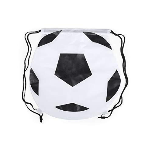 Lote de 20 Mochilas Football con Cordones Negro. Mochilas para niños de Futbol. Mochilas Escolares Mochilas petate niños