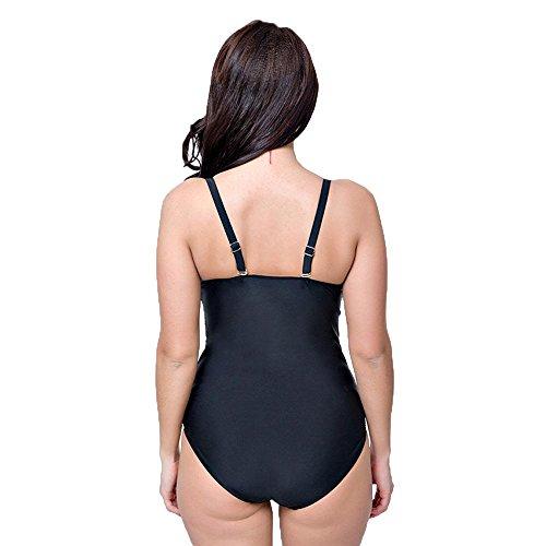WANGXN Frauen siamesische Dreieck Badeanzug Gitter Kampf Farbe Hit die große Größe Push High Yellow