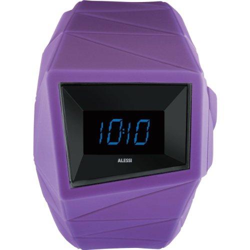 Alessi - AL22003 - Montre Mixte - Quartz Digital - Bracelet Plastique Violet
