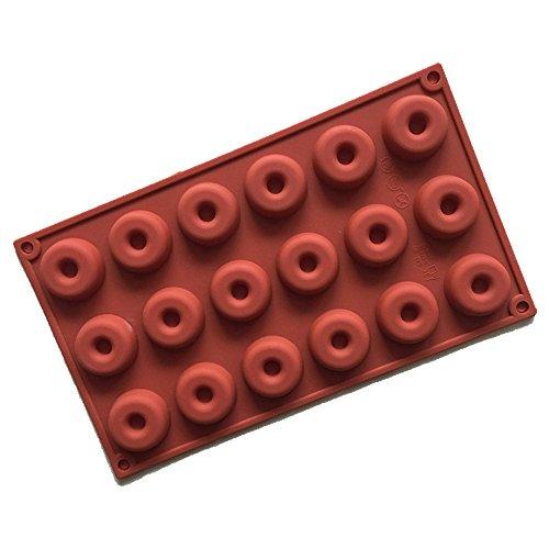 Conjunto de Moldes de Silicona de 18 MUDÍAS Moldes Muffin 3D Donut Redondo para pasteles, bizcochos, mini tartas, magdalenas, chocolate, hielo, etc.   Nuestro molde de silicona contiene diferentes formas especiales, capaces de satisfacer diversas ne...