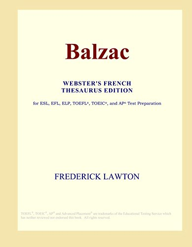 Balzac (Webster's French Thesaurus Edition)
