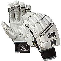 Gunn & Moore - Guantes de bateo (edición Limitada), Unisex Adulto, Color Blanco/Plateado/Negro, tamaño Large Adult RH