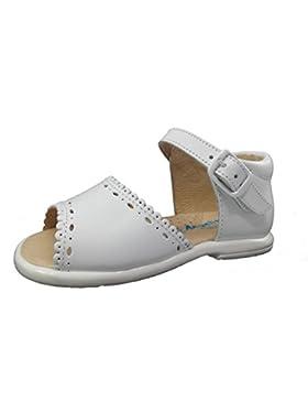 Sandalias para Niñas 1ª Calzadura Todo Piel mod.928. Calzado Infantil Made in Spain, Garantia de Calidad.