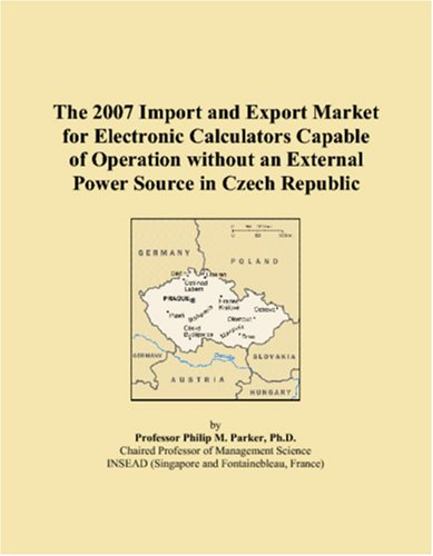 The 2007 Import and Export Market for Electronic Calculators Capable of Operation without an External Power Source in Czech Republic