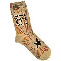 Motherf*cking Girl Power - Soft Combed Cotton Socks - Women's Crew