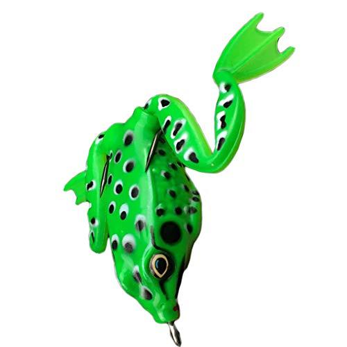 Luckiests 5cm Frosch Spinner Bunte Fishhook Angelhaken Köder Minnow Lachsfisch-Köder-Forelle Künstlicher Köder -