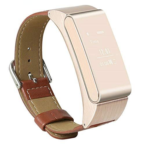 M8 Smart Armband Bluetooth Headset Fitness Kalorien Schritt Motion Tracker Blutdruck Herzfrequenz Schlafdetektor Männer und Frauen Smart Health Watch,Gold
