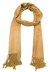 URBAN-TRENDZ Latest Collection of Satin Pashmina Scarf Stole Duppatta Shawl with twisted fringes in Superfine Quality (Summer Colours) UT2327BE