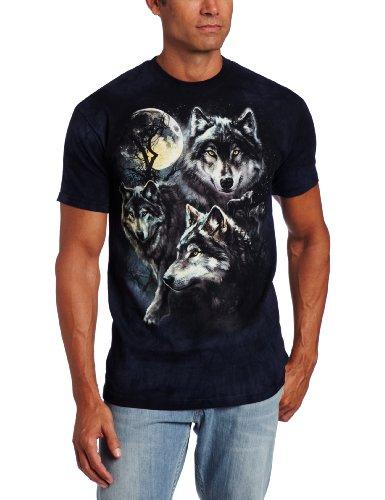 The Mountain Unisex Erwachsen Gr. XL Mond Woelfe Collage T Shirt (Preis Erwachsene T-shirt)
