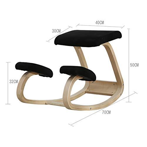MJY Haushaltsprodukte Hocker Korrektive Körperhaltung Stuhl für zu Hause Schreibstuhl Stuhl Computer Stuhl Studentenstuhl Anti-Buckel-Stuhl,C, - Master Corrector