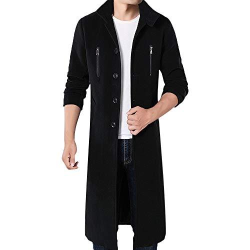 Oyedens Herren Jacke Frack Gothic Steampunk Uniform Kostüm Praty Out Männermantel mit langem Mantel aus Wolle und Windjacke