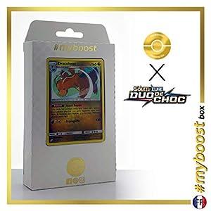 Dracolosse (Dragonite) 119/181 Holo - #myboost X Soleil & Lune 9 Duo de Choc - Box de 10 Cartas Pokémon Francés
