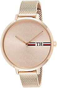 Tommy Hilfiger Womens Quartz Watch, Analog Display and Stainless Steel Strap 1782158