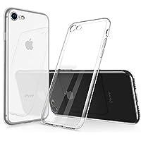 iPhone 8 Hülle, iPhone 7 Hülle, Humixx Hochwertigem Silikon TPU Ultra Dünn Stoßfest, Anti-Fingerabdruck, Anti-Scratch Transparent Soft Hülle Crystal Clear Weich Handyhülle Bumper Cover Schutzhülle für iPhone 8/7-Klar