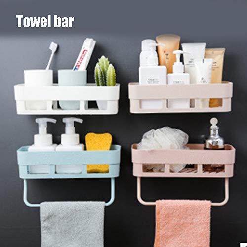 Honsin 4pcs Hair Dryer Holder Wall Mount Hair Tools Holder Bathroom No Drilling Styling Tool Organizer (Band Organizer Wall Mount)