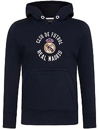 Real Madrid Sudadera Oficial con Capucha - para Niño - con el Escudo del Club - Forro Polar