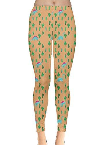 CowCow - Legging - Femme Rose Magenta Orange Cactus