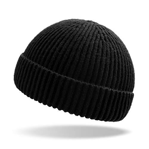 LFEILONG Herbst und Winter Männer und Frauen Hut warmes Licht Körper Wolle Kaninchen Kaschmir Hut schwarz Code