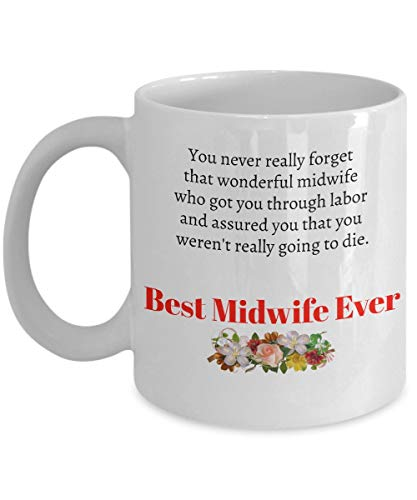 ZZHOO Midwife Gifts Best Ever Thank You Coffee Mugs hot Chocolate Tea Cup White Present Amazing Awesome Beautiful Wonderful Funny Women her Doula Professions Midwives Nurse Retired White Hot Cup