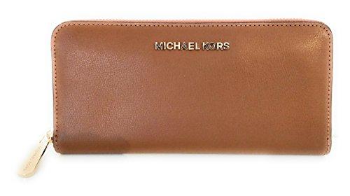 MICHAEL KORS Geldbörse Wallet Jet Set Gepäck Karamell Leder 20x11x2.5cm neu