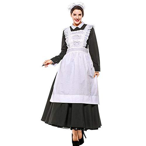 PAOFU Viktorianisches Maid Kleid mit Schürze Kostüm Cosplay für (Viktorianischen Motto Kostüm)