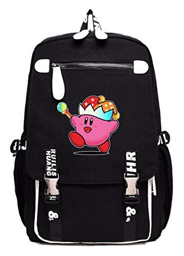 Cosstars Kirby Spiel Cosplay Studenten Rucksack Canvas Backpack Schultaschen Daypack -10 (Kirby Rucksack)