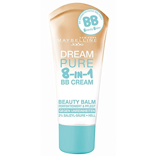 3 x Maybelline Dream Pure 8-in-1 BB Cream For Oily Skin SPF15 30ml - Light