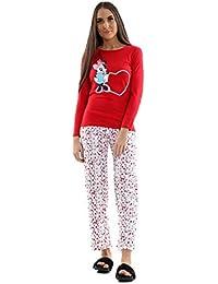 6db9736c8c Snoopy Womens Long Sleeve Pyjama Set Ladies Mickey Minnie Mouse PJ s  Nightwear