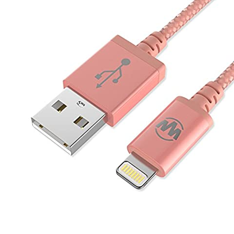 Wanshine Cable Lightning Chargeur iPhone [MFI certifié Apple] en Nylon