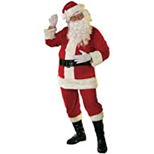 Rubies 8 PIECE VELOUR SANTA CLAUS FATHER CHRISTMAS XMAS FULL COSTUME COMPLETE OUTFIT (disfraz)
