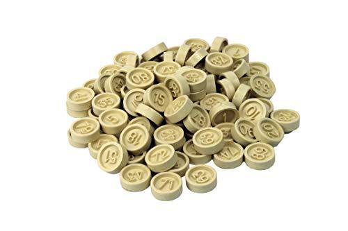 CARTALOTO-90 Chips aus Kunststoff, nummeriert, JP902FB, Mehrfarbig