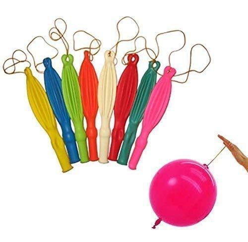 Mehrfarbig 30,5cm Große Punch Luftballons mit Elastic Bouncy Bands für Party Geburtstag Kinder Tasche Füllstoffe Dekoration von Hochzeit Decor (50Stück)