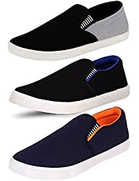 Ethics Perfect Combo Pack of 3 Loafer Shoes Men