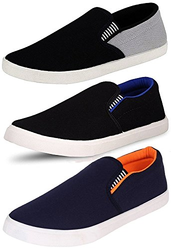 Ethics Combo Pack Of 3 Loafer Shoes For Men - Multicolour (6)