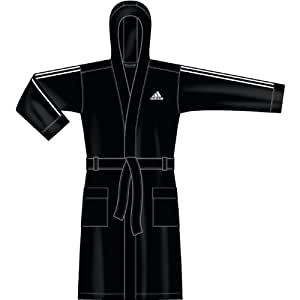 adidas bathrobe men peignoir natation homme noir blanc m sports et loisirs. Black Bedroom Furniture Sets. Home Design Ideas