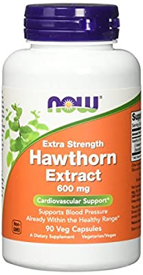 NOW Foods - Hawthorn Extract Extra Strength 600 mg. - 90 Vegetarian Capsules by NOW Foods