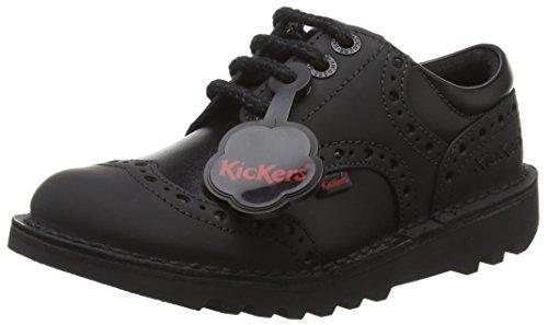 Kickers Brogman Junior, Brogues Garçon Noir - Noir