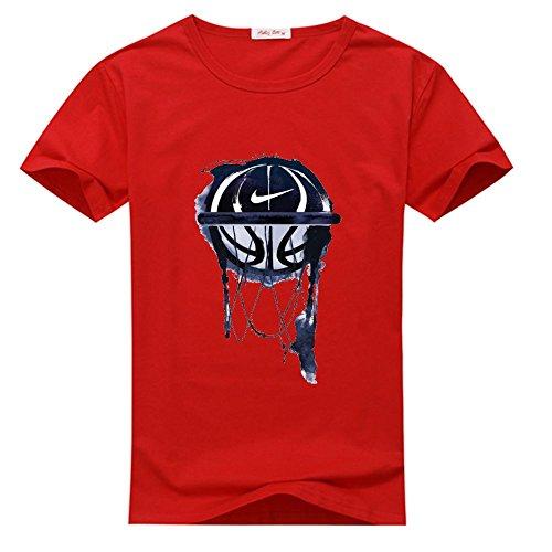 Yilaicustom Personalized DIY Custom Basketball Men's Short Sleeve T-Shirt (Basketball Custom T-shirts)