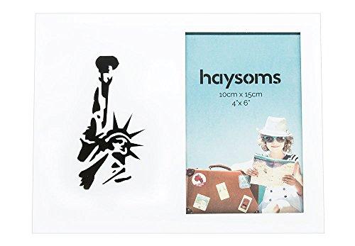 """Marco de Fotos de Viaje 4 """"x 6"""" Nueva York - Blanco por Haysoms"""