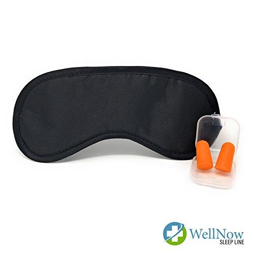 Hochwertige Schlafmaske mit Gratis Ohrstöpsel für Damen&Herren – Speziell entwickelte Schaumstoff Anti-Licht-Barrieren für komplette Dunkelheit - Weiche Maske mit einstellbarem Gummiband (Herren-kleines Licht)