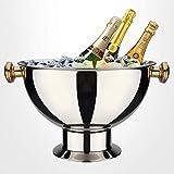 DUDDP Bouteille de Vin seau Seau à champagne en métal, seau à champagne, seau à glace, bol à seau à glace