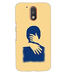 PrintDhaba LOVE COUPLE D-6343 Back Case Cover for MOTOROLA MOTO G4 (Multi-Coloured)