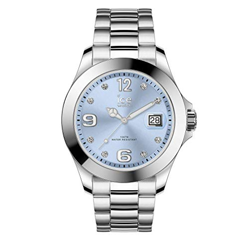 Ice-Watch - Ice Steel Light Blue Silver - Montre Argent pour Femme avec Bracelet en Metal - 016775 (Medium)