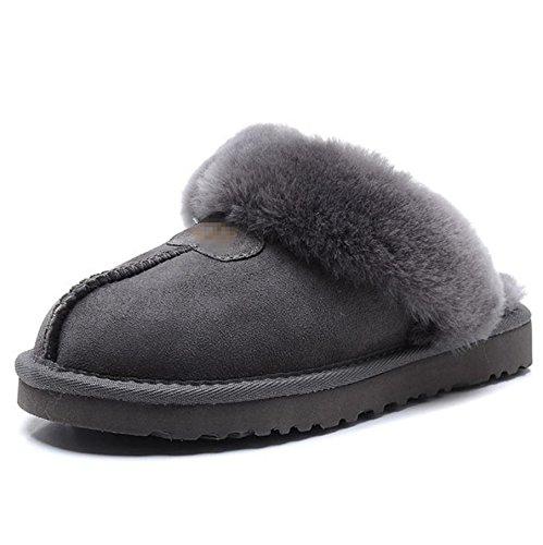 Mesdames intérieur chaud chaussures réparation Mouton Chaussons en fausse fourrure 5