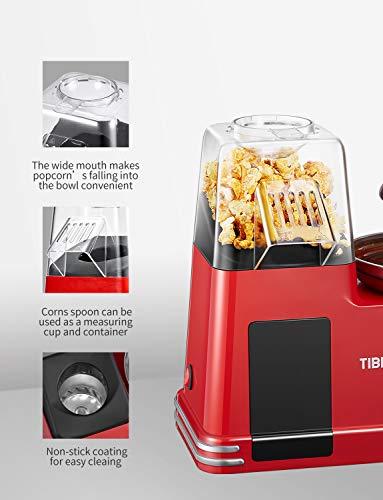 Popcornmaschine für Heimkino, 2-in-1-Popcorn Maker, Einfache Installation und Bedienung, Recht Leicht,BPF-frei, 1200 W
