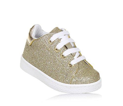 Twinset Milano Twin-Set Goldener Schuh mit Schnürsenkeln Aus Glitzern und Leder, phantasievoll und Modisch, Mädchen-20