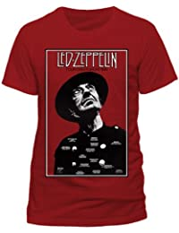 Led Zeppelin Tour Over Europe Official Unisex T-Shirt (Red)