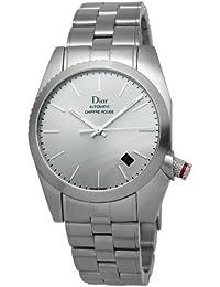 Christian Dior Hommes Chiffre Rouge CD084511M001 inoxydable Montre-bracelet  en acier c8eef75544d