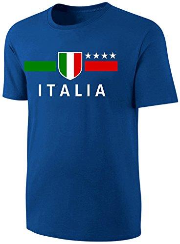 Italien T-Shirt Kinder Fußball Fan Shirt Blau Größe 128